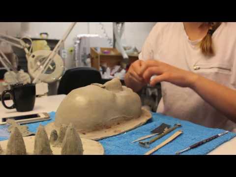 Full makeup prosthetic creation