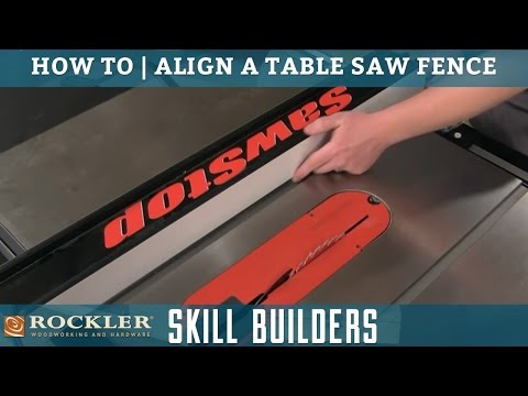 How to Align Your Table Saw Fence | Rockler Skill Builders