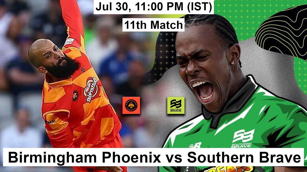 11th Match The Hundred: Southern Brave vs Birmingham Phoenix | Key Players & Playing XI
