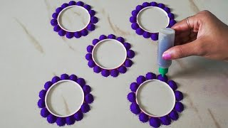 Very easy and beautiful rangoli design by using bangles and glue bottle - Rangoli for beginners-
