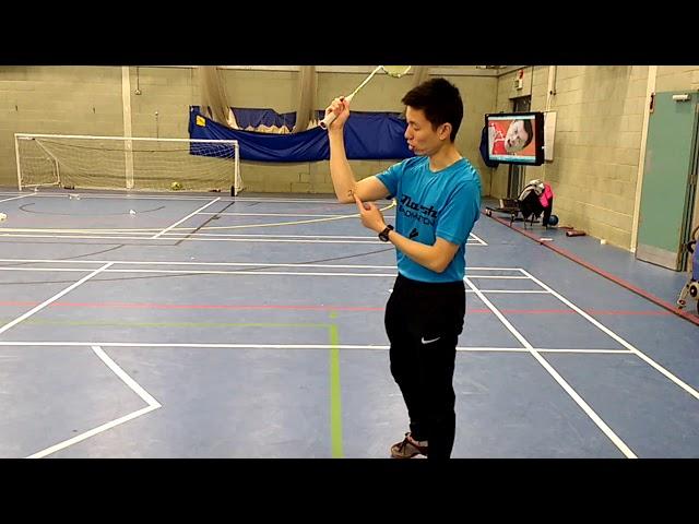 Badminton forearm rotation practice