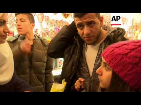 Syrian refugee family embraces German Christmas