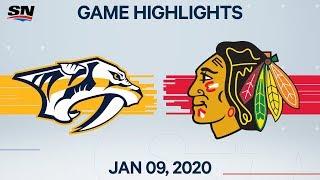 NHL Highlights   Predators vs. Blackhawks – Jan. 9, 2020