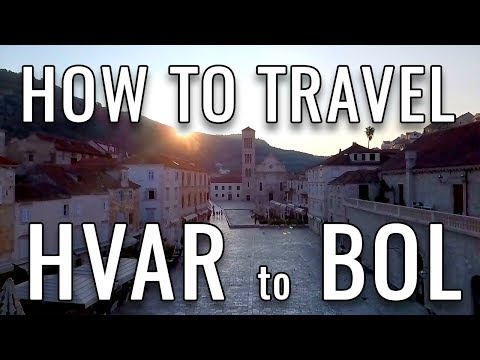 Island Hopping in Croatia | How to Travel from Hvar to Bol