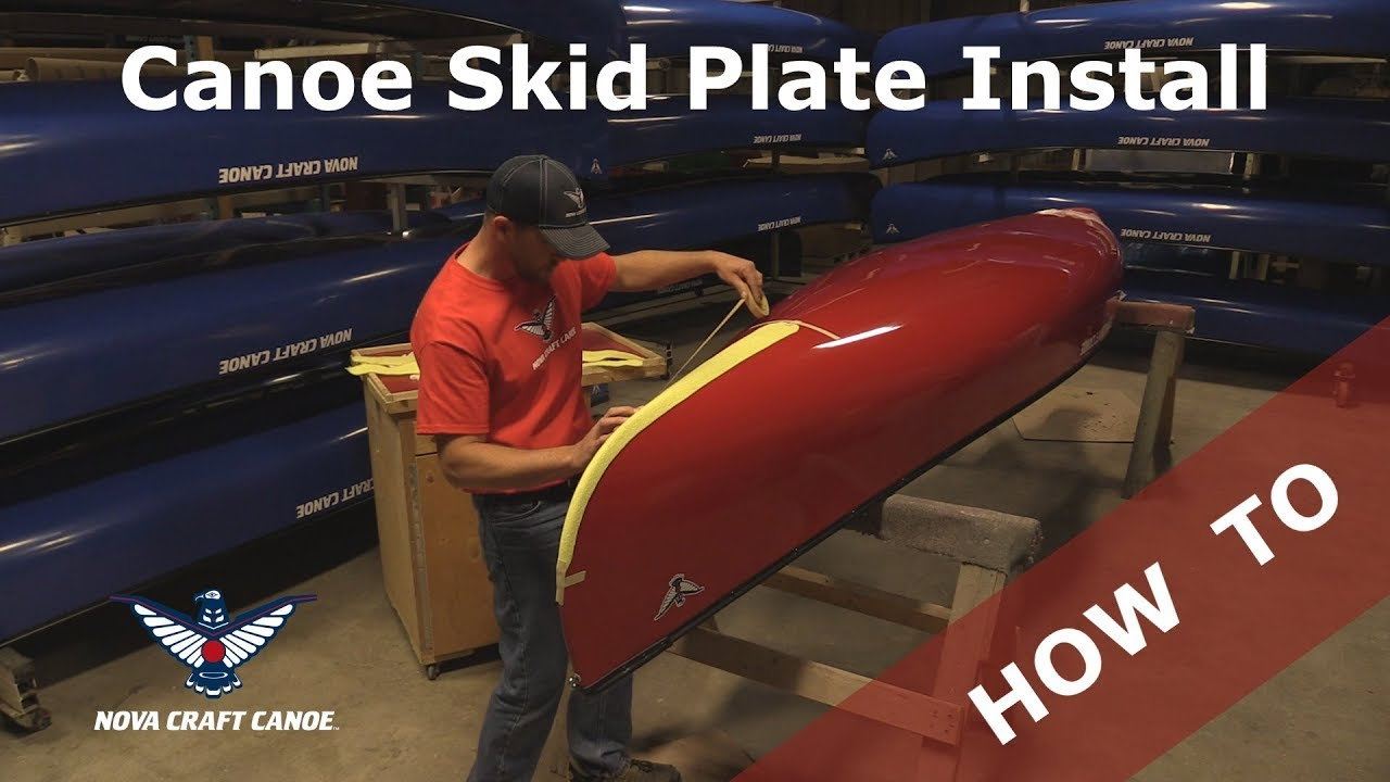 Installing Skid Plates on a Composite Canoe