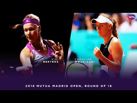 Kiki Bertens vs. Caroline Wozniacki | 2018 Mutua Madrid Open Round of 16 | WTA Highlights
