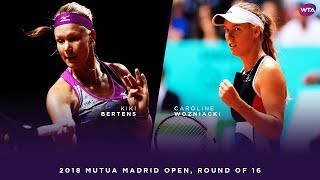 Kiki Bertens vs. Caroline Wozniacki   2018 Mutua Madrid Open Round of 16   WTA Highlights