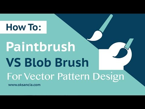 The Difference Between Paintbrush And Blob Brush Tool In Adobe Illustrator. How To Use Blob Brush.