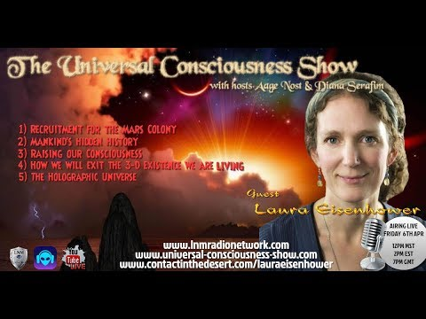Universal Consciousness Show SPECIAL GUEST LAURA EISENHOWER  4-6-18