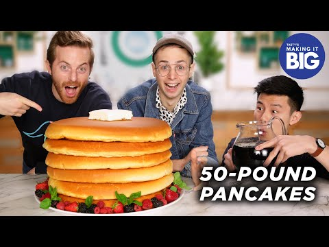 i-made-giant-50-pound-pancakes-for-the-try-guys-•-tasty