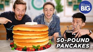 I Made Giant 50-Pound Pancakes For The Try Guys  Tasty