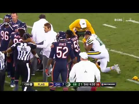 Extremely Graphic & Vicious Hit on Devante Adams by Danny Trevathan. (Should he have been Ejected?)