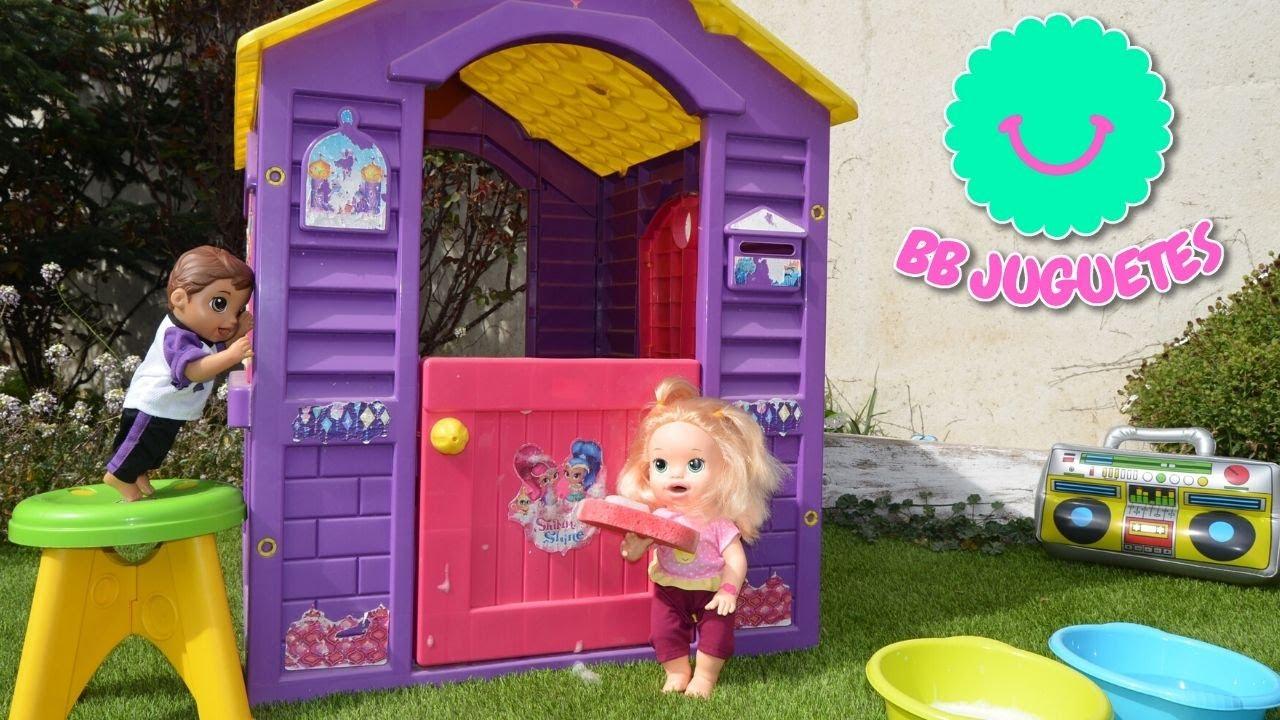 Llega la primavera y ponemos a punto la casa jardín de Shimmer y Shein con Sara y Luke Baby Alive