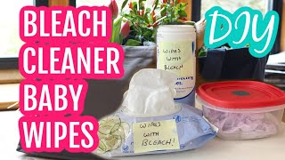 DIY Bleach Wipes with Baby Wipes and Rags