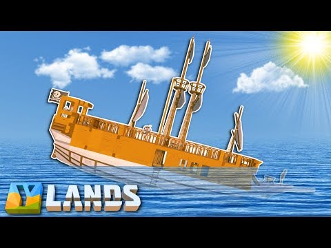 Ylands - OUR SHIP SANK!? - Ylands Multiplayer Gameplay & Ship Sailing!