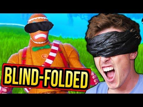 WINNING Fortnite BLIND Challenge!