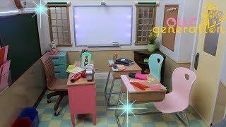 Yeni Okul Sınıfımızı Açıyoruz 📆Play Our Generation Dolls School Classroom Toy Set ! Bidünya Oyuncak