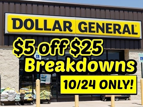 $4 $5 & $6 Deals | Dollar General | $5 Off $25 Breakdowns | Shop With Sarah | 10/15