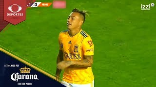 Gol de Eduardo Vargas  | Tigres 3 - 3 Monarcas | Clausura 2019 - J15 | Presentado por Corona