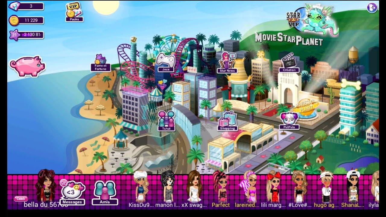 moviestarplanet sur tablette