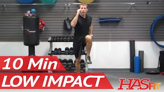 10 Minute Low Impact Aerobic Workout Class! Easy Exercises Cardio Workout | HASfit Cardiovascular