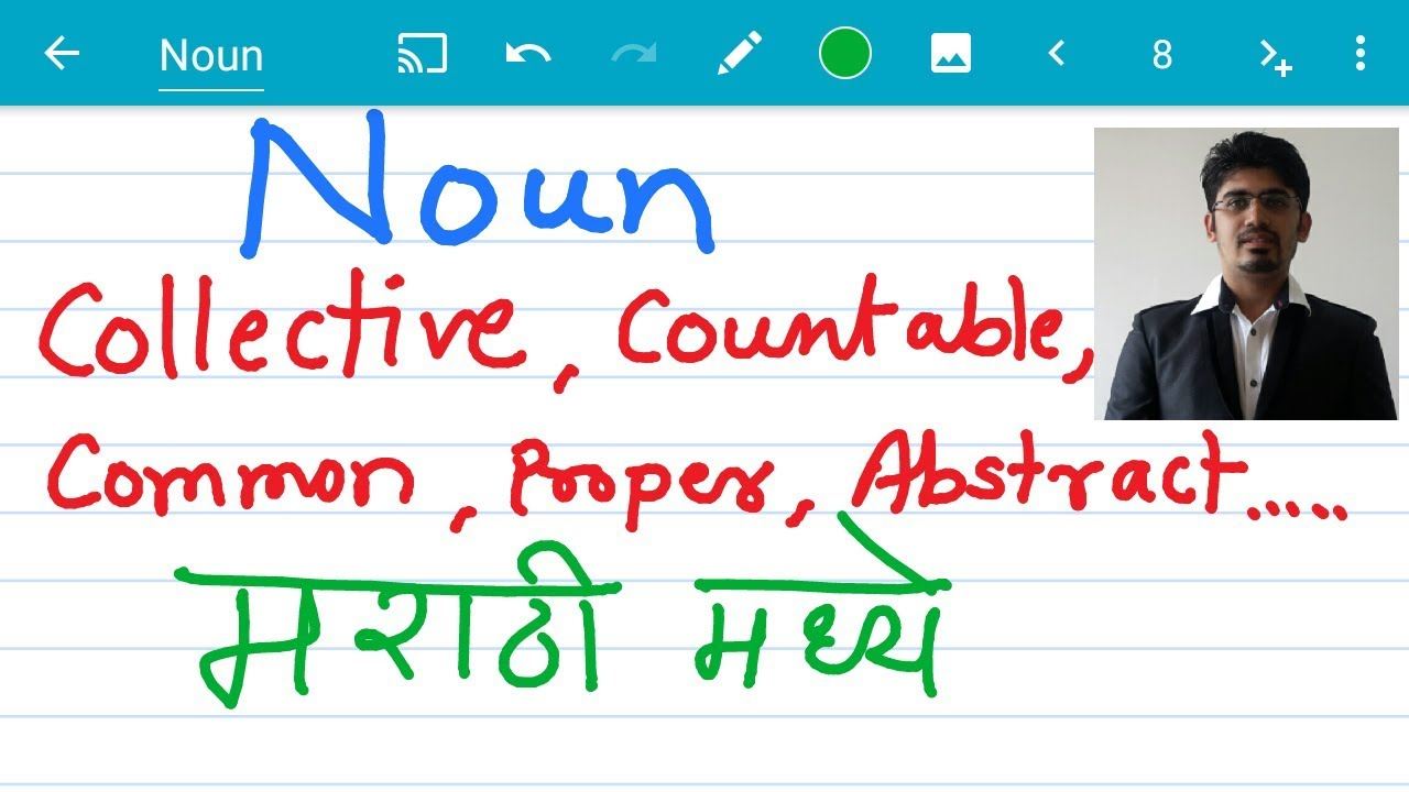 What Is Noun Collective Concrete Abstract Common Proper Noun Learn In Marathi Youtube