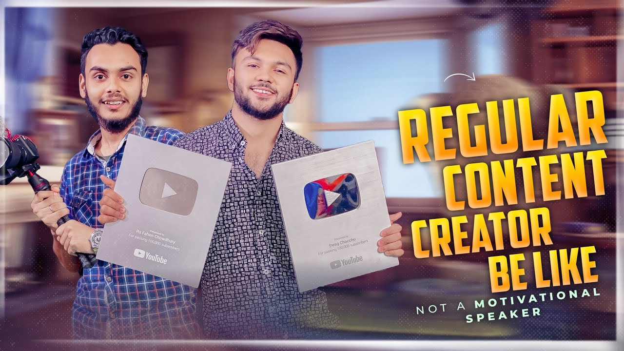 Regular Content Creator Be Like ! Not A Motivational Speaker