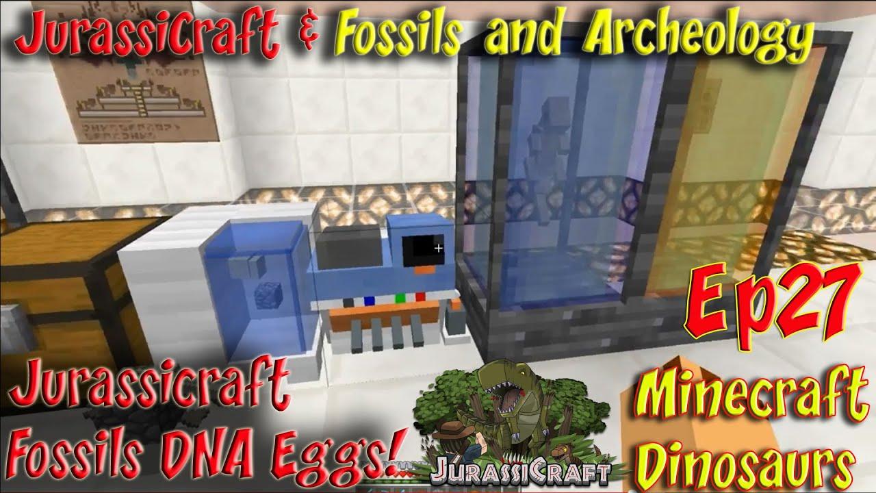 Jurassicraft & Fossils and Archeology Mod Jurassic World Ep27 Jurassicraft  Fossils DNA Eggs