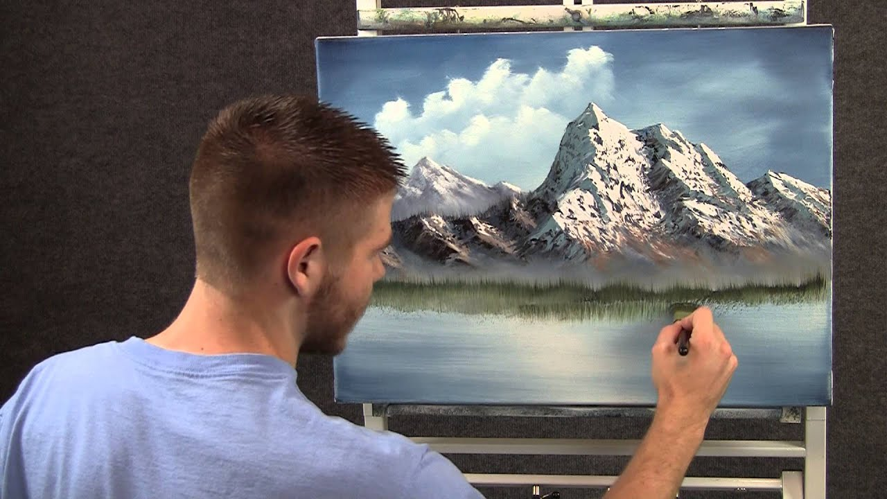 Paint With Kevin Spring Mountain Wet On Wet Hd Youtube