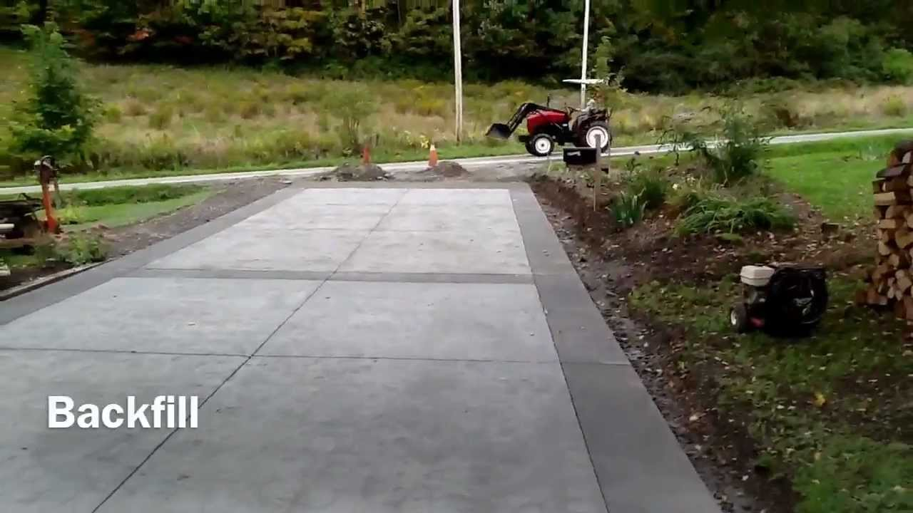 Concrete driveway youtube for Removing concrete driveway