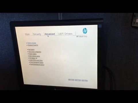 Virtualization VTX BIOS setting on HP Elitedesk 800 G2 SFF - YouTube