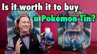 PKMTCG - Is It Worth It To Buy a Pokémon Tin? A Pokemon TCG Review and Opening