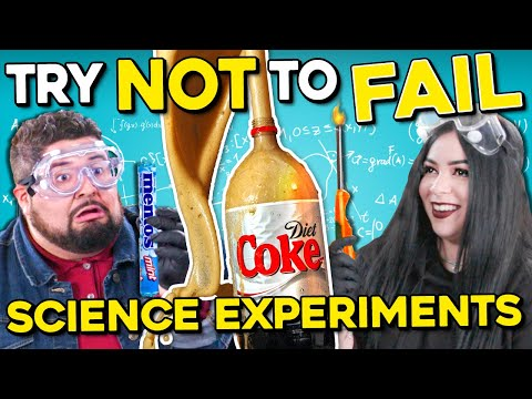 Try Not To Fail Challenge: 5 Amazing Science Experiments