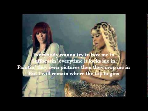 NICKI MINAJ FEAT. RIHANNA - FLY LYRICS