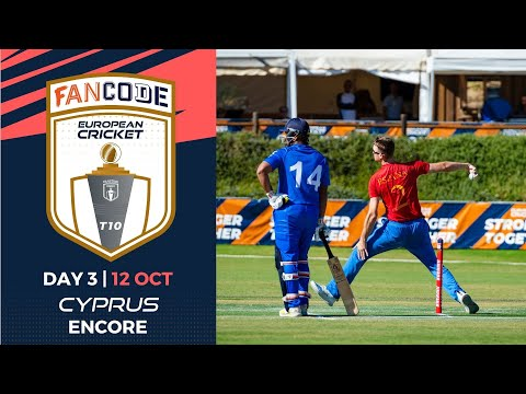 🔴 FanCode European Cricket T10 Cyprus Encore, 2021 | Day 3 |  T10 Live Cricket