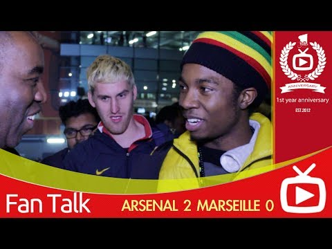 Arsenal FC 2 Marseille 0 - Jamaican Gooner Pleased With Win -  ArsenalFanTV.com