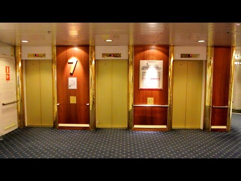 FULL TOUR of the 1991 DAN elevators @ Cruiseferry M/S Gabriella (Viking Line)
