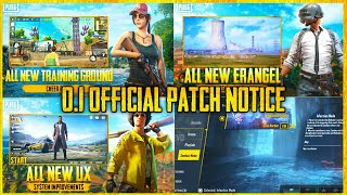 Pubg Mobile Official 0.1 Update Patch Notice | Kumari Gamer