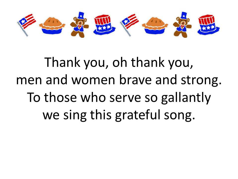 thank you soldiers - YouTube