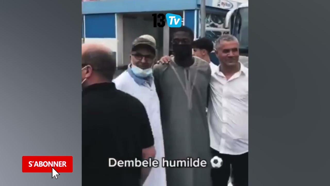 Machallah: après la prière du Vendredi, Ousmane Dembele pose avec les fans  Quelle humilité!