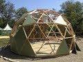 Купольный дом, материал ребер, радиус дома, диаметр, типы соединения видео инструкция