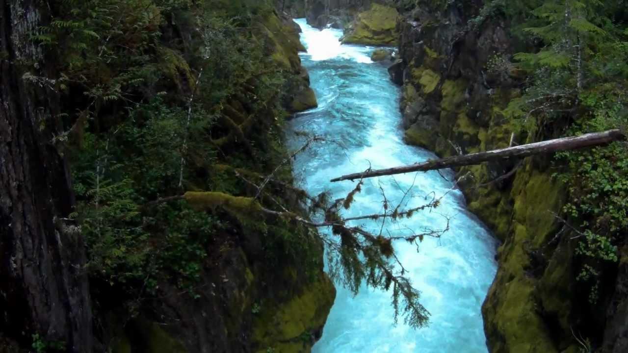 Fall River Wallpaper Silver Falls Mount Rainier National Park High Flow