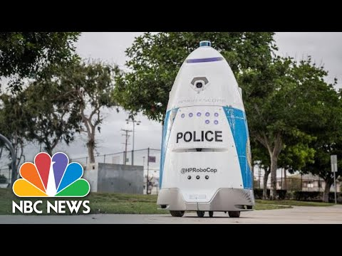 Huntington Park Police Unveil A 400-Pound Robot Cop | NBC News