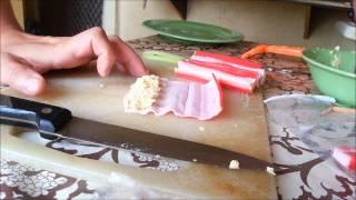 рецепт крабовых палочек с сыром и огурчиком