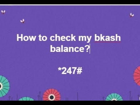 How to check my bkash balance?