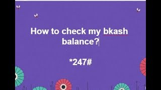 How to check my bkash balance?