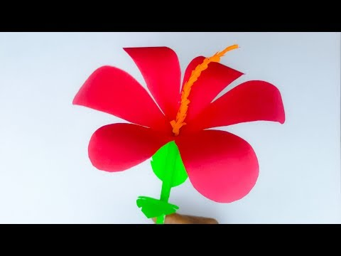 DIY || HOW TO MAKE A PAPER CHINA ROSE STEP BY STEP // HIBISCUS FLOWER MAKING ||