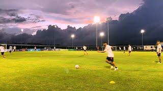 Así fue el ultimo entrenamiento de la Selección Colombia antes de enfrentar a Venezuela