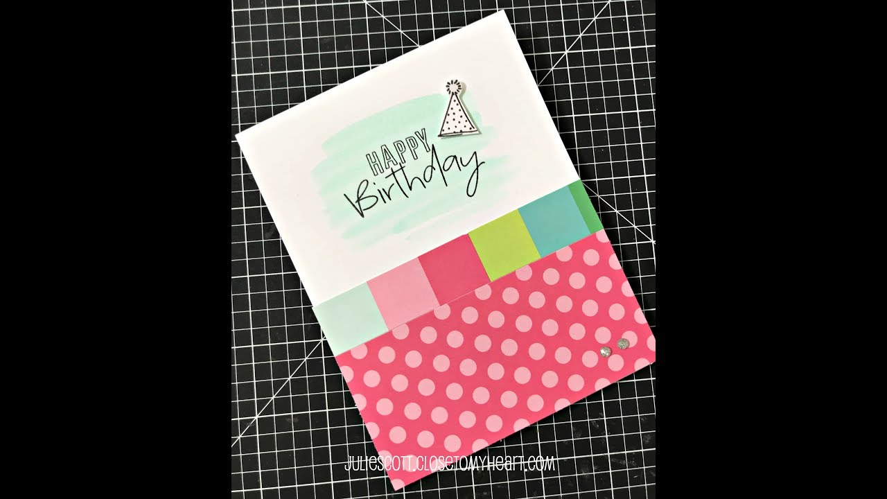 Birthday Card With Shimmer Brush