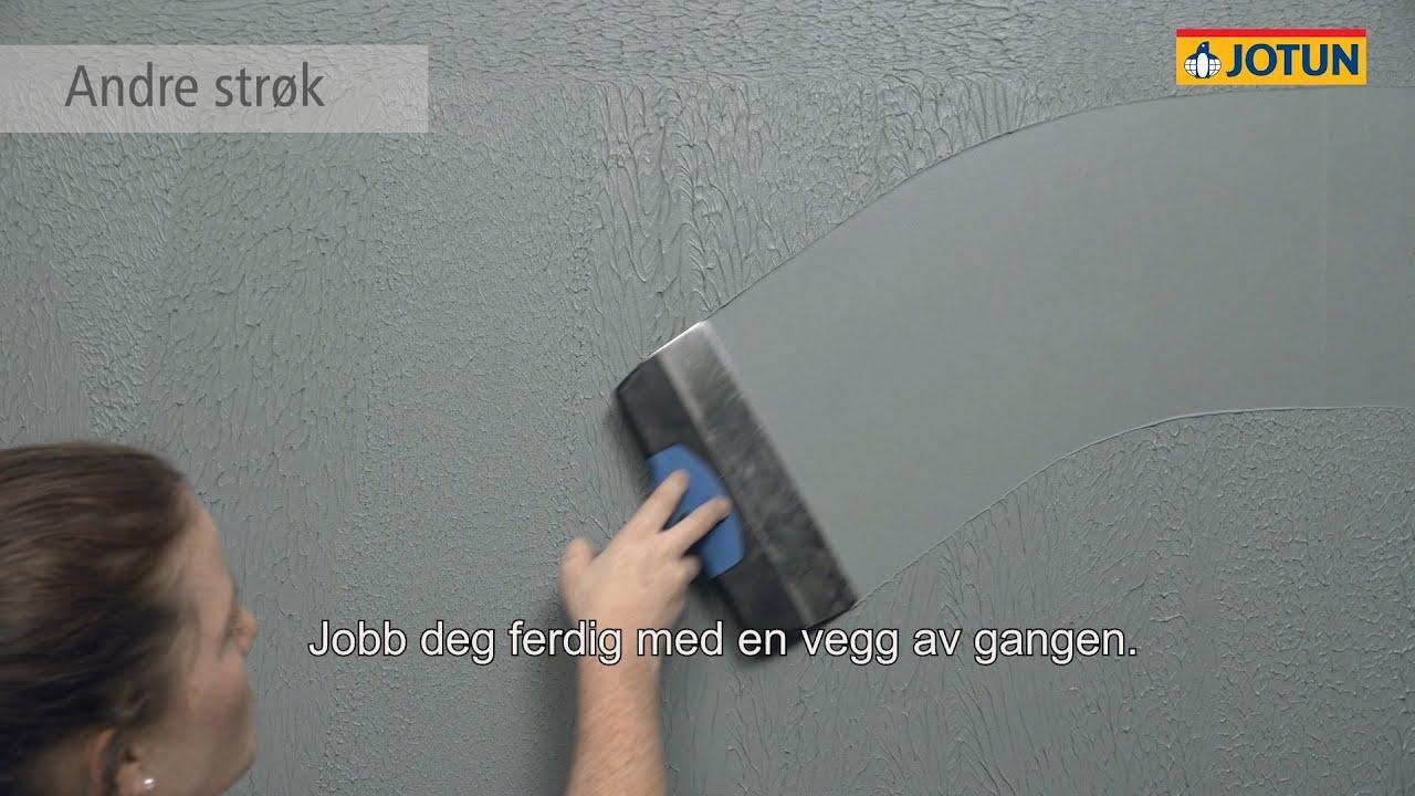 Før/etter gang med revolusjonerende ny veggfornyer, nå slipper du å prakkes. Og hvordan male paneltak!